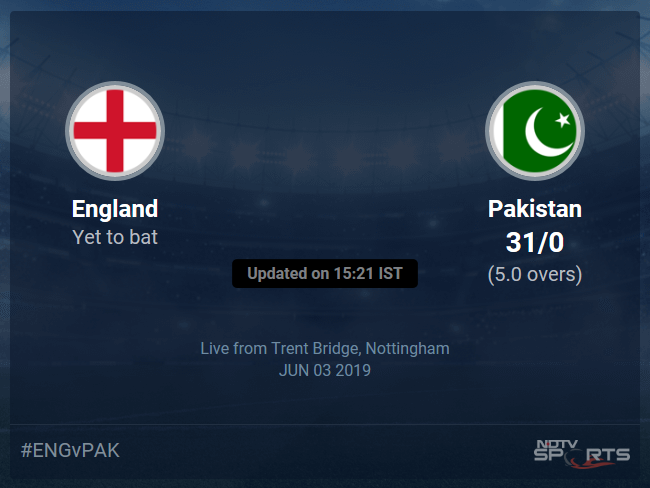 Pakistan vs England Live Score, Over 1 to 5 Latest Cricket Score, Updates