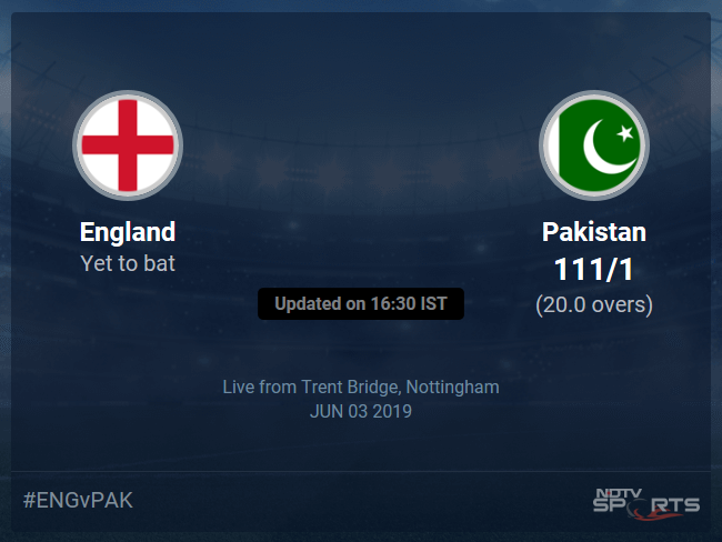 Pakistan vs England Live Score, Over 16 to 20 Latest Cricket Score, Updates