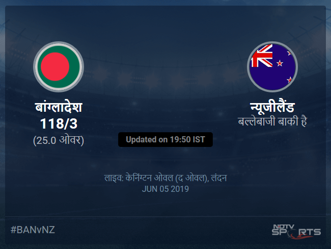 Bangladesh vs New Zealand live score over Match 9 ODI 21 25 updates