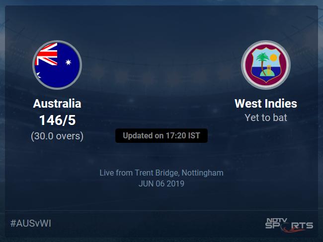 Australia vs West Indies Live Score, Over 26 to 30 Latest Cricket Score, Updates