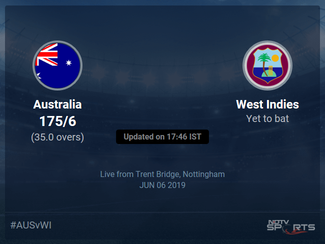 West Indies vs Australia Live Score, Over 31 to 35 Latest Cricket Score, Updates