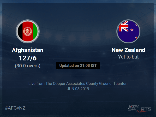 New Zealand vs Afghanistan Live Score, Over 26 to 30 Latest Cricket Score, Updates