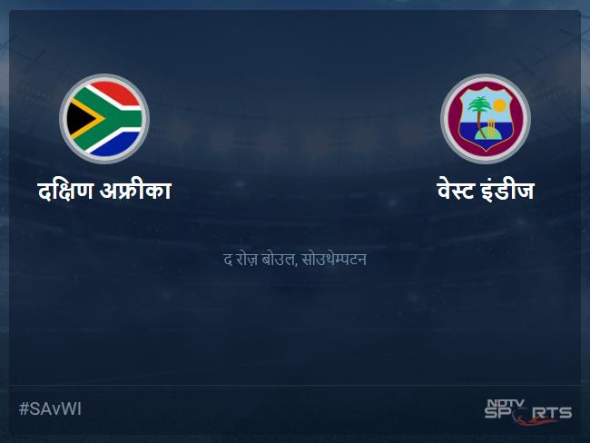 वेस्ट इंडीज बनाम दक्षिण अफ्रीका लाइव स्कोर, ओवर 6 से 10 लेटेस्ट क्रिकेट स्कोर अपडेट