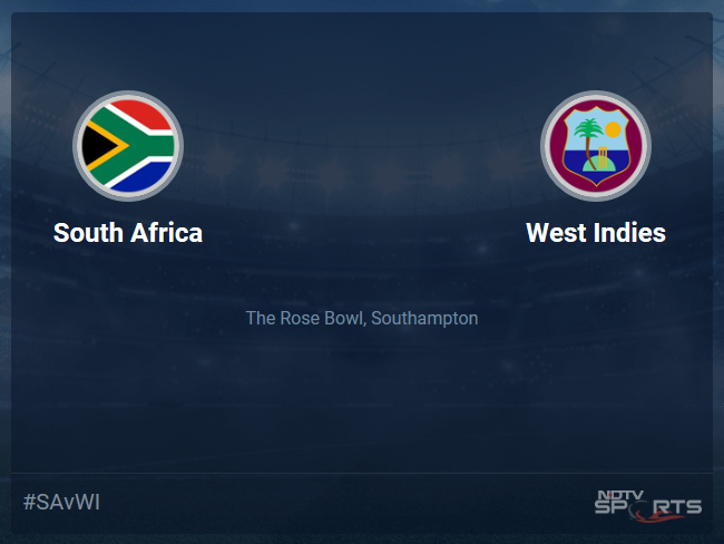 South Africa vs West Indies Live Score, Over 6 to 10 Latest Cricket Score, Updates