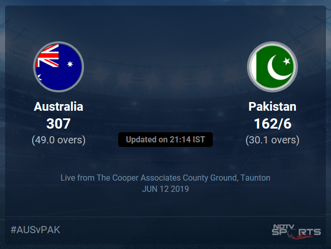 Pakistan vs Australia Live Score, Over 26 to 30 Latest Cricket Score, Updates