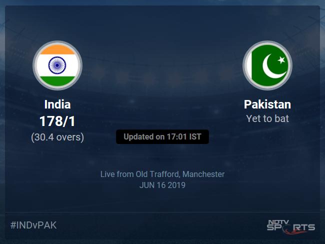 Pakistan vs India Live Score, Over 26 to 30 Latest Cricket Score, Updates