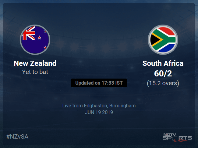 New Zealand vs South Africa Live Score, Over 11 to 15 Latest Cricket Score, Updates