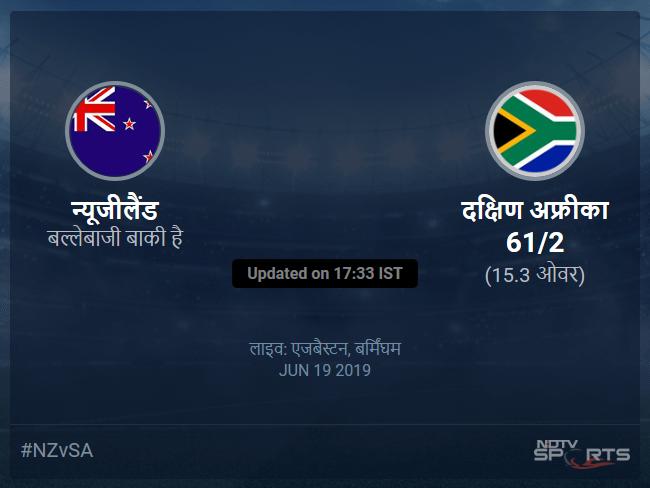 न्यूजीलैंड बनाम दक्षिण अफ्रीका लाइव स्कोर, ओवर 11 से 15 लेटेस्ट क्रिकेट स्कोर अपडेट