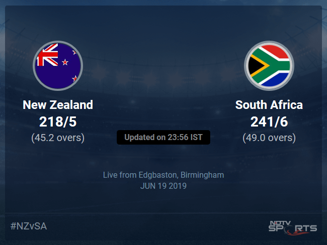 South Africa vs New Zealand Live Score, Over 41 to 45 Latest Cricket Score, Updates