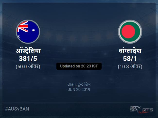 Australia vs Bangladesh live score over Match 26 ODI 6 10 updates