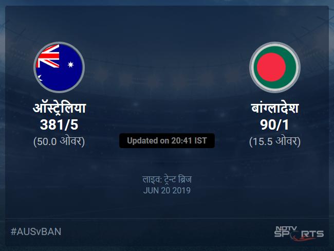 Australia vs Bangladesh live score over Match 26 ODI 11 15 updates