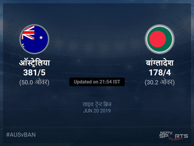 Australia vs Bangladesh live score over Match 26 ODI 26 30 updates
