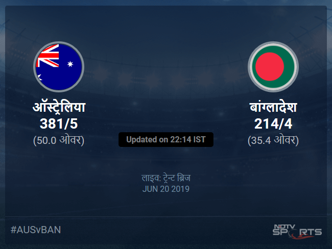 Australia vs Bangladesh live score over Match 26 ODI 31 35 updates