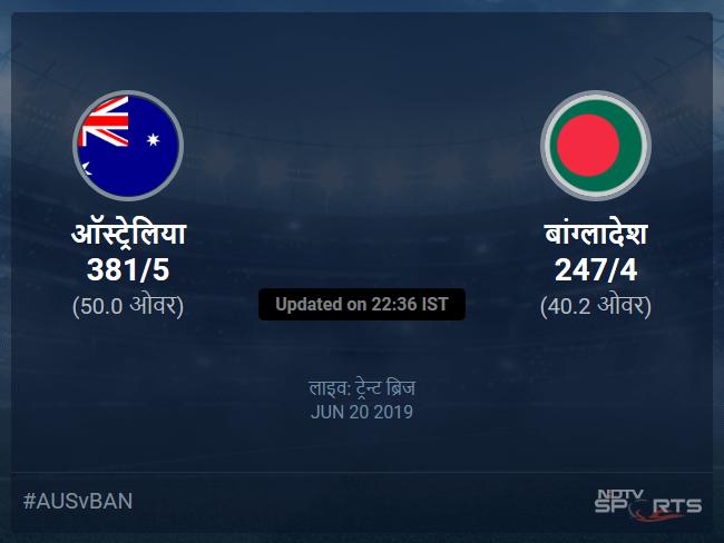 Australia vs Bangladesh live score over Match 26 ODI 36 40 updates