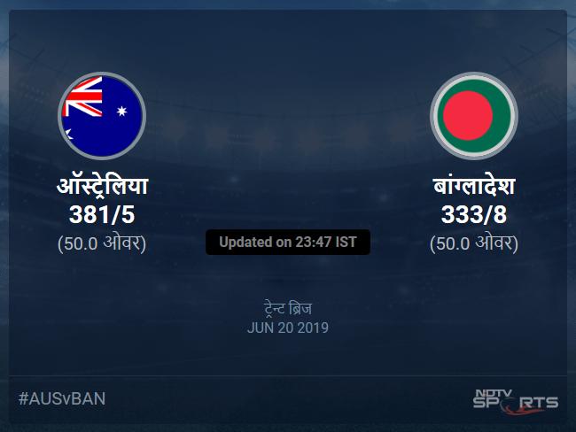 Australia vs Bangladesh live score over Match 26 ODI 46 50 updates