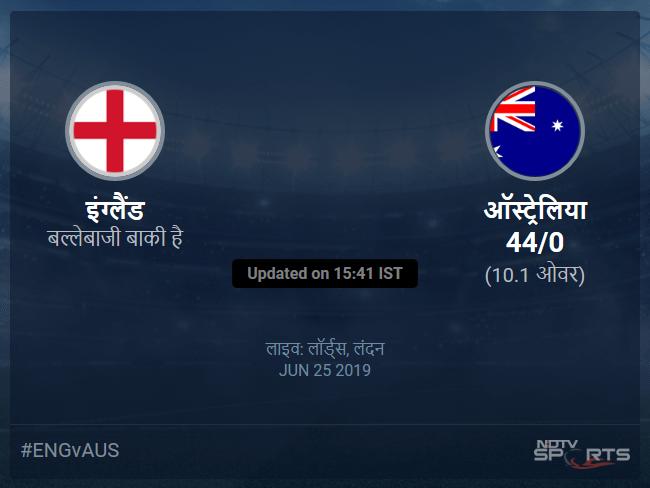 England vs Australia live score over Match 32 ODI 6 10 updates