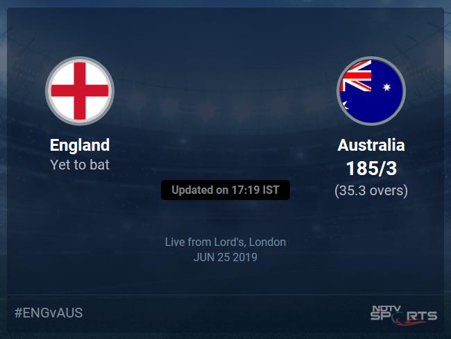 England vs Australia Live Score, Over 31 to 35 Latest Cricket Score, Updates