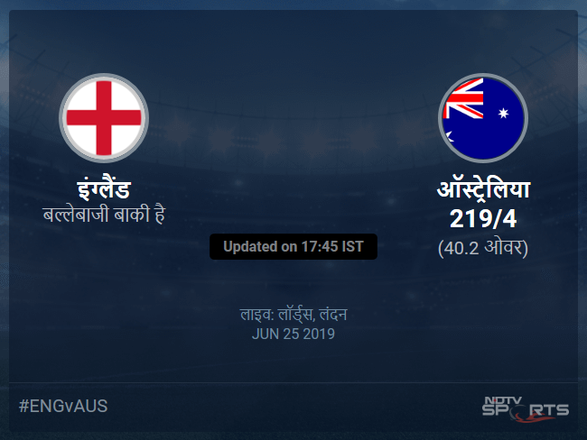 England vs Australia live score over Match 32 ODI 36 40 updates