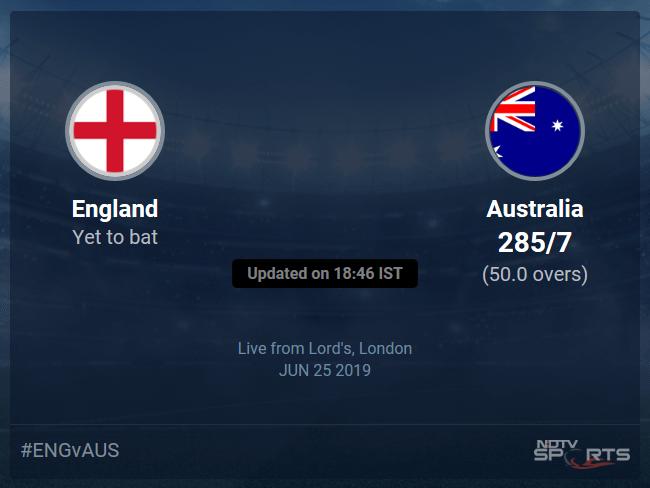England vs Australia Live Score, Over 46 to 50 Latest Cricket Score, Updates