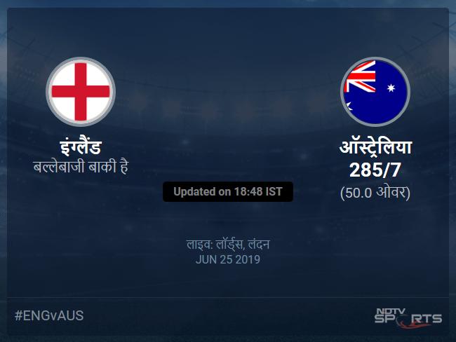 England vs Australia live score over Match 32 ODI 46 50 updates