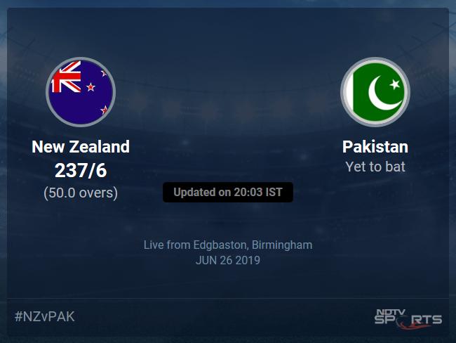 New Zealand vs Pakistan Live Score, Over 46 to 50 Latest Cricket Score, Updates