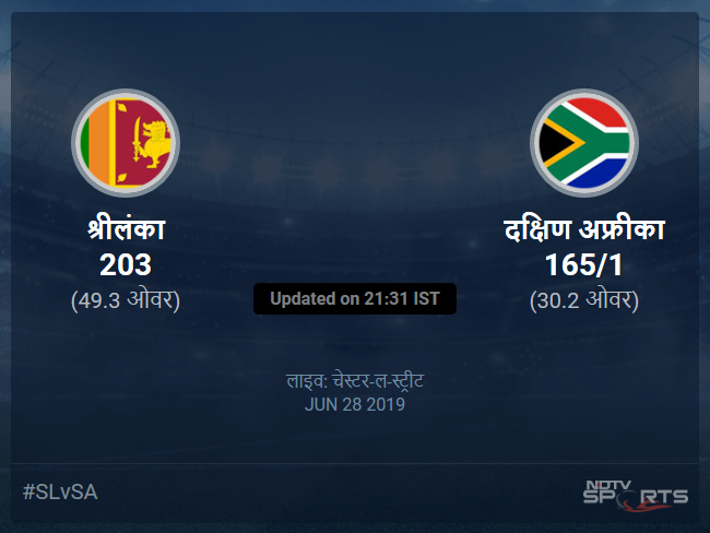 Sri Lanka vs South Africa live score over Match 35 ODI 26 30 updates