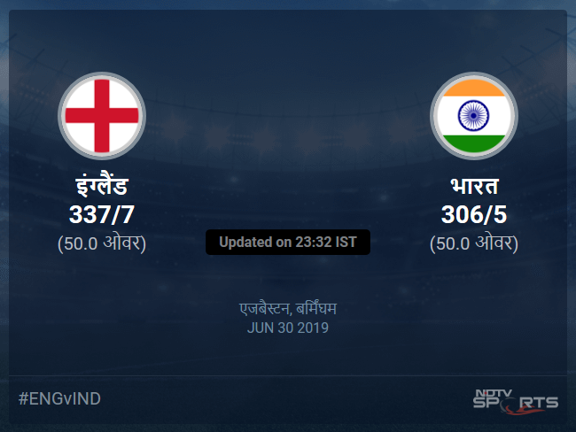 England vs India live score over Match 38 ODI 46 50 updates