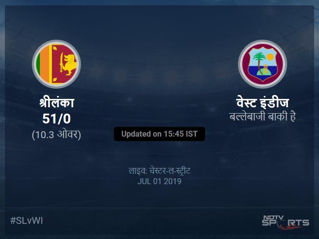 Sri Lanka vs West Indies live score over Match 39 ODI 6 10 updates