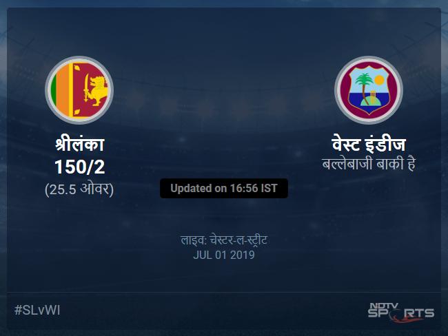 Sri Lanka vs West Indies live score over Match 39 ODI 21 25 updates