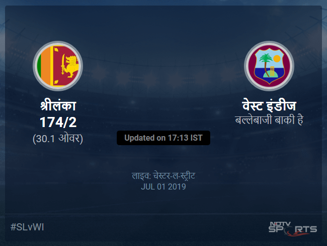 Sri Lanka vs West Indies live score over Match 39 ODI 26 30 updates