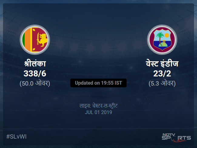 Sri Lanka vs West Indies live score over Match 39 ODI 1 5 updates