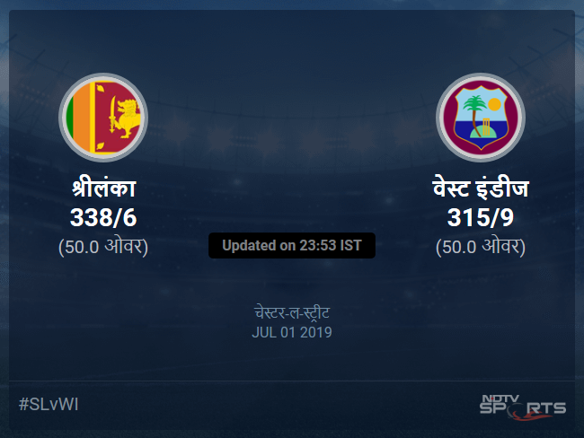 Sri Lanka vs West Indies live score over Match 39 ODI 46 50 updates