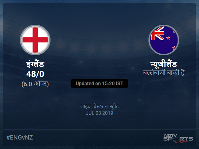 England vs New Zealand live score over Match 41 ODI 1 5 updates