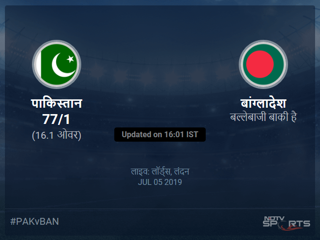 Pakistan vs Bangladesh live score over Match 43 ODI 11 15 updates
