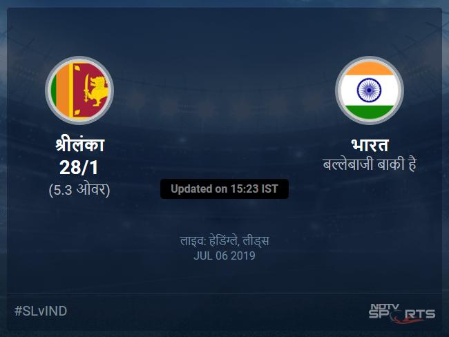 Sri Lanka vs India live score over Match 44 ODI 1 5 updates