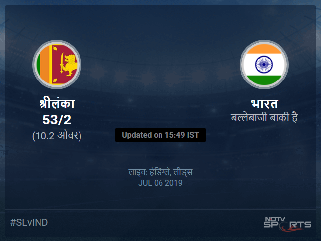 Sri Lanka vs India live score over Match 44 ODI 6 10 updates