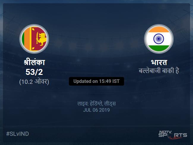 Sri Lanka vs India live score over Match 44 ODI 6 10 updates