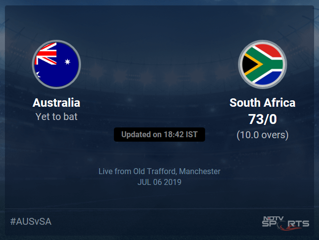 Australia vs South Africa Live Score, Over 6 to 10 Latest Cricket Score, Updates
