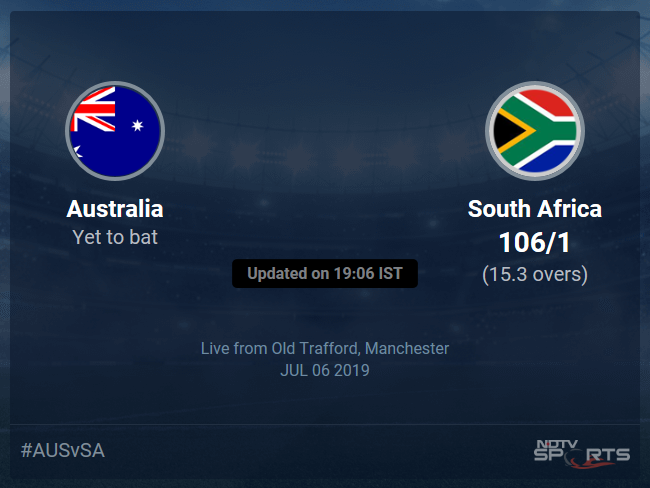 Australia vs South Africa Live Score, Over 11 to 15 Latest Cricket Score, Updates