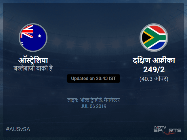 Australia vs South Africa live score over Match 45 ODI 36 40 updates