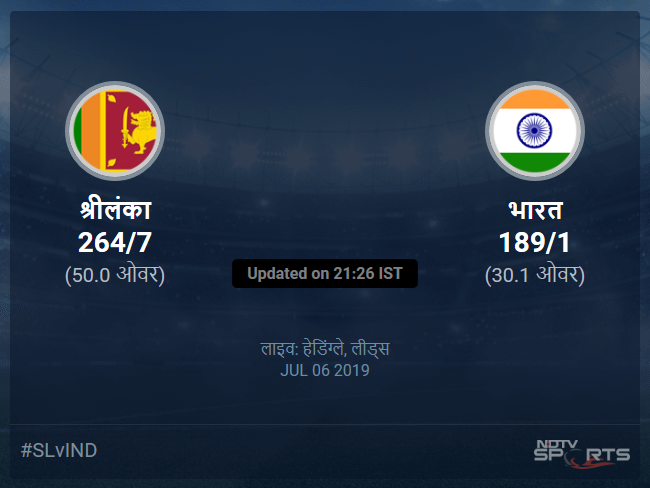 Sri Lanka vs India live score over Match 44 ODI 26 30 updates