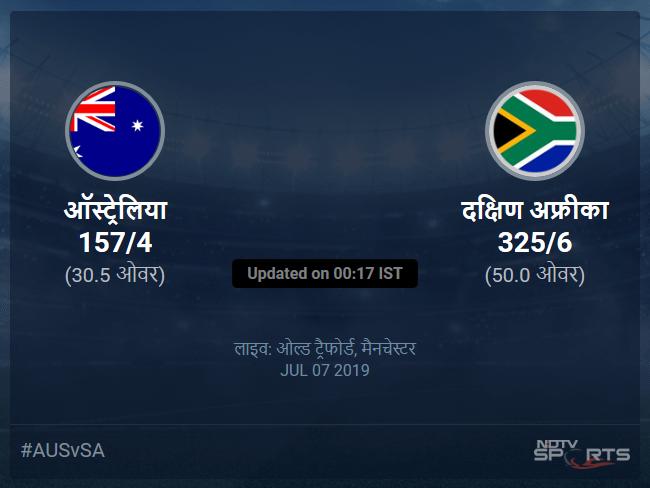 दक्षिण अफ्रीका बनाम ऑस्ट्रेलिया लाइव स्कोर, ओवर 26 से 30 लेटेस्ट क्रिकेट स्कोर अपडेट