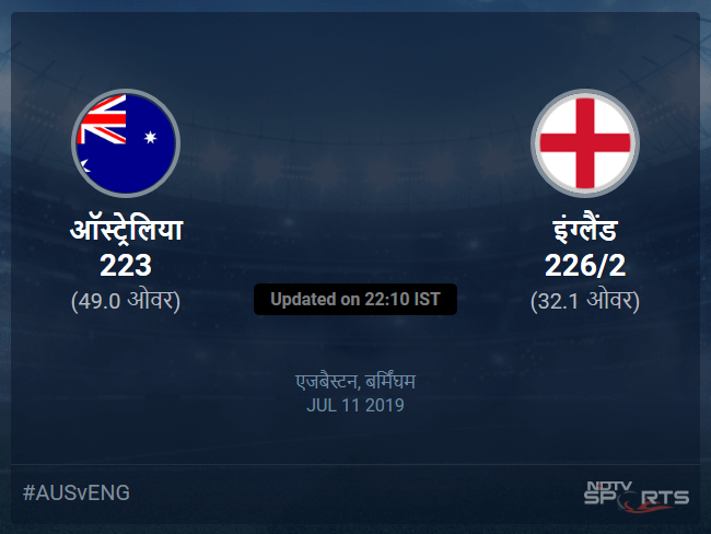 Australia vs England live score over 2nd Semi Final ODI 31 35 updates