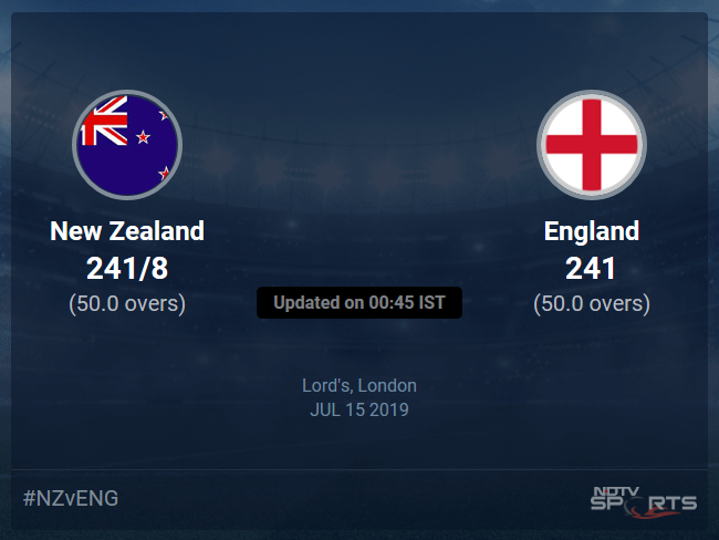 England vs New Zealand Live Score, Over 46 to 50 Latest Cricket Score, Updates