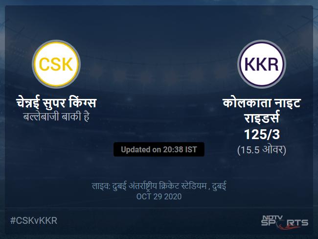 Chennai Super Kings vs Kolkata Knight Riders live score over Match 49 T20 11 15 updates