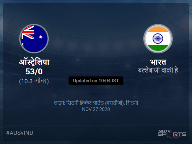 Australia vs India live score over 1st ODI ODI 6 10 updates