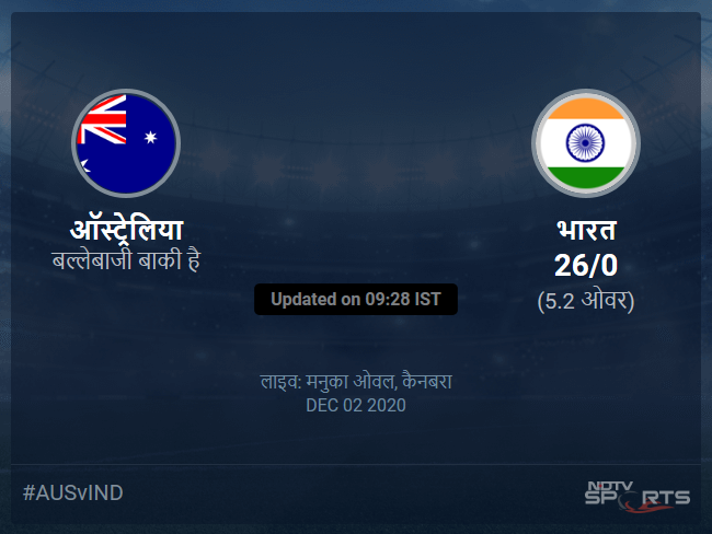 Australia vs India live score over 3rd ODI ODI 1 5 updates
