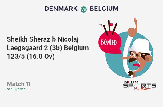 AFG vs NZ: Match 13: Hashmatullah Shahidi hits Matt Henry for a 4! Afghanistan 119/6 (26.1 Ov). CRR: 4.54