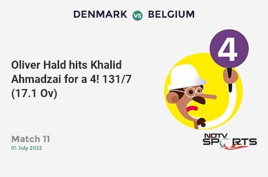 AFG vs NZ: Match 13: Ross Taylor hits Rahmat Shah for a 4! New Zealand 71/2 (15.1 Ov). Target: 173; RRR: 2.93
