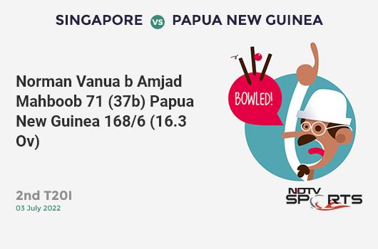 SL vs AUS: Match 20: WICKET! Nuwan Pradeep c Alex Carey b Pat Cummins 0 (7b, 0x4, 0x6). Sri Lanka 247/10 (45.5 Ov). Target: 335; RRR: 21.12